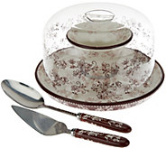 Temp-tations Floral Lace 12 Convertible Cake Stand Set - K43892