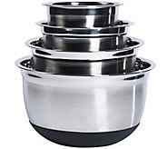 Denmark 4Pc Stainless Steel Mixing Bowl Set with Silicone Base - K305193
