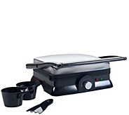 Chef Buddy Electric Nonstick Panini Press & Indoor Grill - K374793