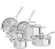 KitchenAid Tri-Ply Stainless Steel 10-Piece Cookware Set - K375393