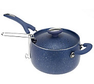 The Neelys 4qt Nonstick Covered Saucepan w/ Fry Basket - K39193