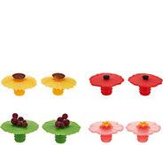 Charles Viancin Set of 8 Decorative Wine Bottle Stoppers - K44593