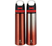 Manna Set of 2 Stainless Steel Bluetooth Water Bottles - K46793