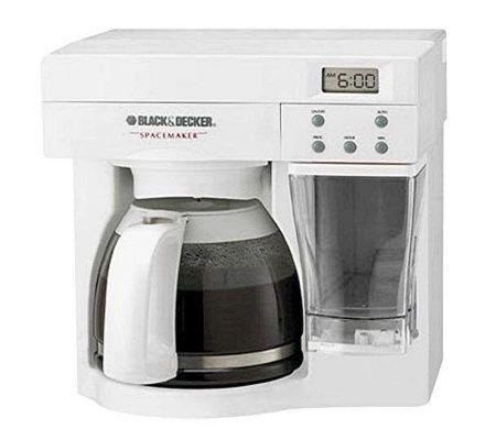 Black And Decker Coffee Maker Spring : Black & Decker SpaceMaker 12-Cup Coffee Maker -White - Page 1 QVC.com
