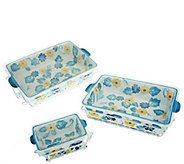 Temp-tations Floral Embroidery 9-pc Oven-to-Table Set - K304294