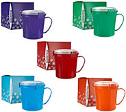 Sistema Set of 5 Microwave Soup Mugs w/ Gift Boxes - K42894