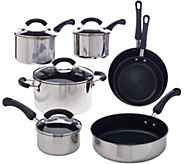 CooksEssentials 11-pc Stainless Steel Dishwasher Safe Cookware Set - K43294