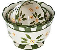 Temp-tations Old World Set of 3 Pedestal Bowls - K43394