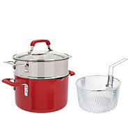 Emeril 4qt. Dutch Oven with Fry Basket and Steamer Insert - K45294
