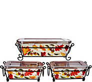 Temp-tations Harvest or Pumpkin Patch Figural Loaf Pan Set - K46094