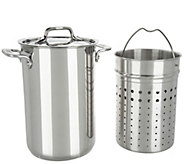 All-Clad Stainless Steel 3.3qt. Pot with Perforated & Steamer Inserts - K46694