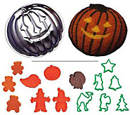 Gourmac Pumpkin Cake Mold and Cookie Cutters - K180095