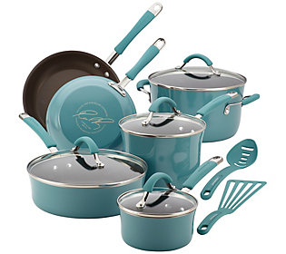 Rachael Ray Cucina Hard Enamel 12 Piece Cookware Set
