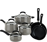 As Is Cooks Essentials 10pc Dishwasher Safe Porcelain Cookware Set - K307595