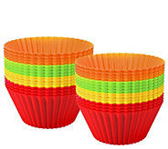 Chef Buddy 48-Piece Silicone Baking Cupcake Liners - K376395
