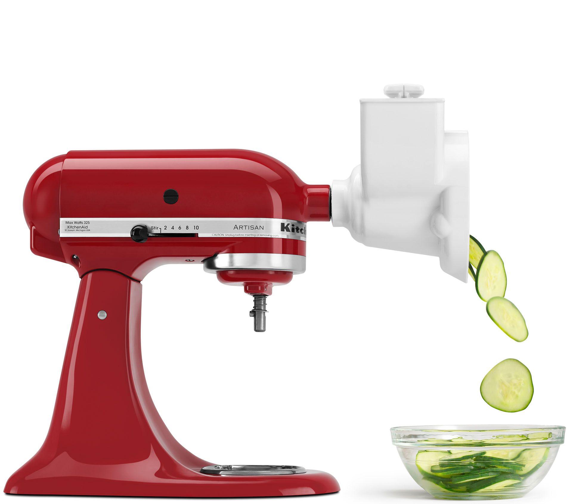 kitchenaid rvsa stand mixer rotor slicer shredder white. Black Bedroom Furniture Sets. Home Design Ideas