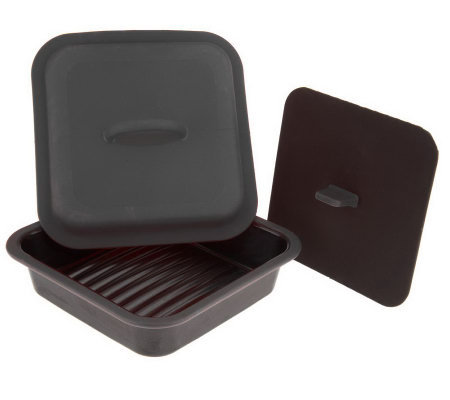 Prepology Microwave Grill Pan with Press & Steamer Lid