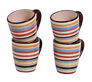Tabletops Lifestyles Stripe Charlie Mug - S/4 - K298996