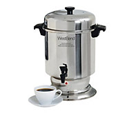 West Bend 55-Cup Stainless Steel Coffee Urn - K306496
