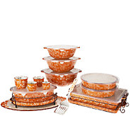 As Is Temp-tations Floral Lace 18-pc Bake & Serve Set - K307196