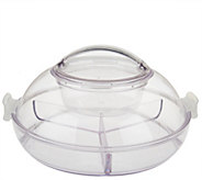 As Is Iced Up Appetizer on Ice Divided Platter w/ Locking Lid - K307596