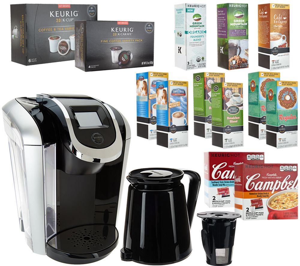 keurig 20 k450 coffee maker w my kcup 33 kcup pods u0026 4 soup kits page 1 u2014 qvccom