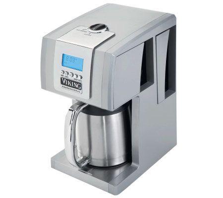 Viking 12-Cup Coffee Maker - Metallic Silver - Page 1 QVC.com