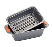 Rachael Ray Bakeware 2-Piece Meat Loaf Pan - Orange - K298597