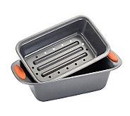 Rachael Ray Bakeware 2-Piece Meat Loaf Pan - Orange - K298597