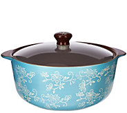 As Is Temp-tations Floral Lace 2.5 qt. Round Stove Top Baker - K307497