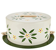 As Is Temp- tations Old World Covered Decorative Cake Carrier - K307597