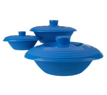 Prepology Silicone Set of 3 Microwave Cooking Dishes