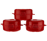 Sistema Set of 3 Microwave Egg Cookers - K42897