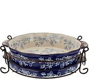 Temp-tations Floral Lace 9 Pie Plate with Lid-it & Rack - K45997