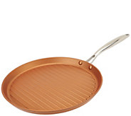 As Is Cooks Essentials 12 Lightweight Cast Iron Round Grill Pan - K307398