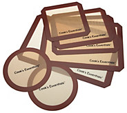 As Is Cooks Essentials 7 pc Siicone Baking Mat Set - K307698