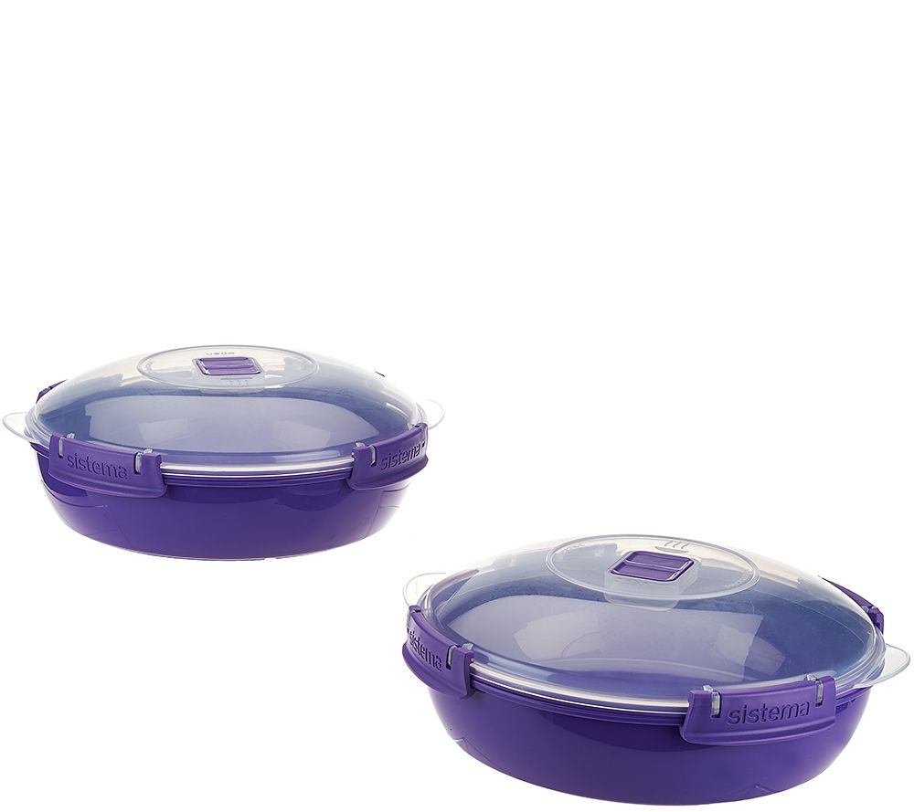 Sistema Set Of 2 Microwave Round Domed Casseroles Page 1