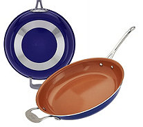 "Gotham Steel 12.5"" Aluminum Nonstick Pan with Titanium Ceramic Coating - K44798"