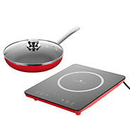 Cooks Essentials Induction Cooktop w/ 10 Skillet & Lid - K45698