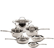 Earthchef by BergHOFF Copper Clad Cookware Setwith Glass Lids - K305499