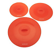 Rachael Ray Set of 3 Silicone Suction Lids - K36599