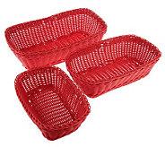 Prepology S/3 Round or Rectangle Dishwasher Safe Nesting Baskets - K39399