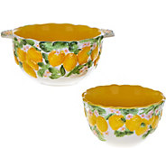 Temp-tations Set of 2 Figural Fruit Bowls - K42099