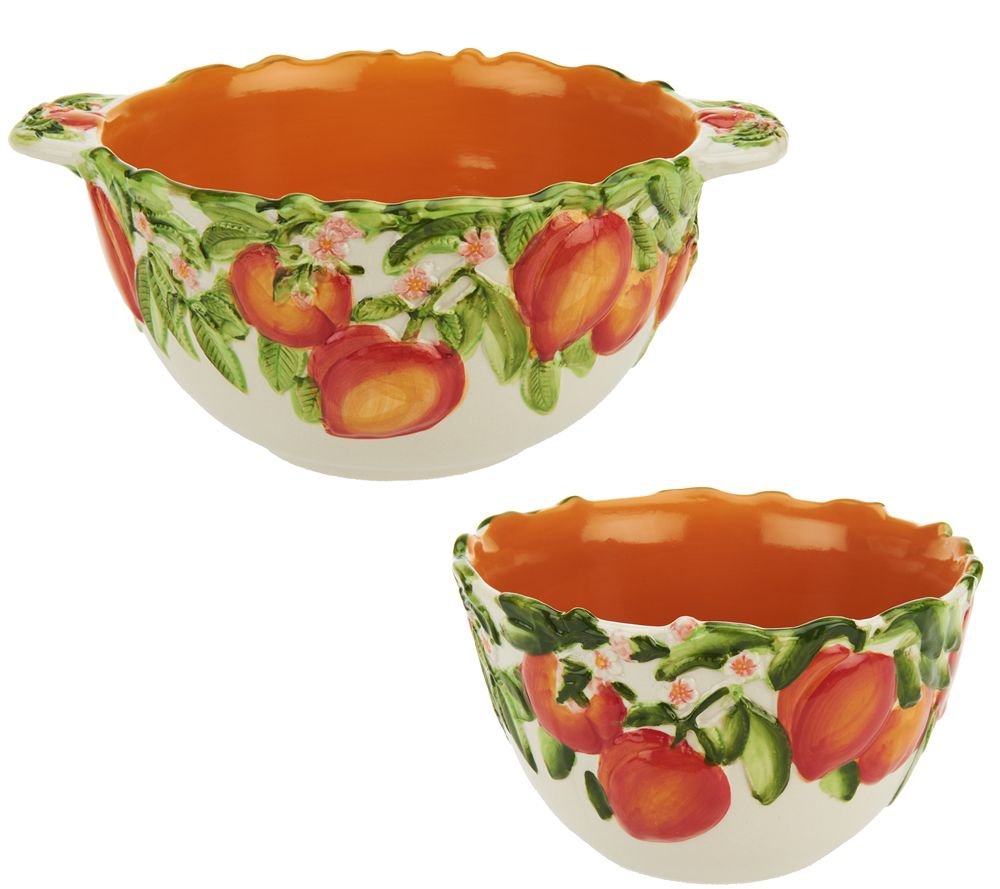Temp-tations Set of 2 Figural Fruit Bowls - Page 1 \u2014 QVC.com