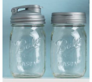 reCAP Lids Set of 2 Reusable Mason Jars w/ Caps - L44803
