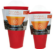 Ships 8/28 Frywall S/2 Silicone Splatter and Spill Stoppers - L46408