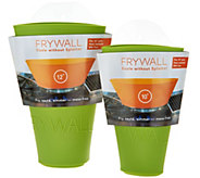 As Is Frywall Set of 2 Silicone Splatter and Spill Stoppers - L307809