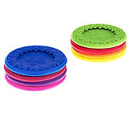 Coasterica Set/8 Slip-On Silicone Wine Glass Coasters - L40016