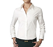 The Shirt L/S Fitted Cotton Blouse with No Gap Technology - L39638
