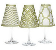 DiPotter S/6 Decorative Wine Glass Shades w/Tea Lights - L39852